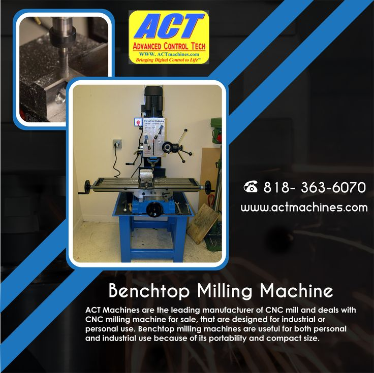 ACT Machines are the leading manufacturer of CNC mill and deals with CNC milling machine for sale, that are designed for industrial or personal use. Benchtop milling machines are useful for both personal and industrial use because of its portability and compact size.    Visit us at: http://www.actmachines.com/