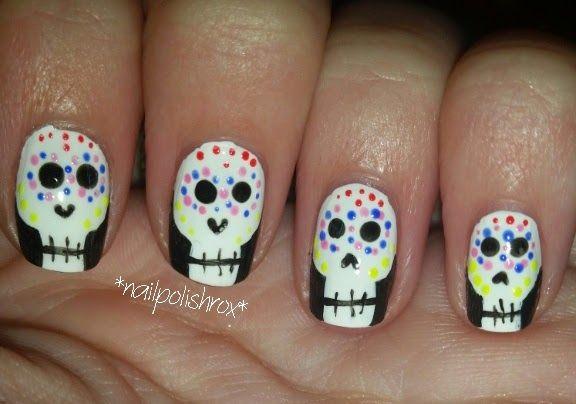 nailpolishrox04: skull nail art
