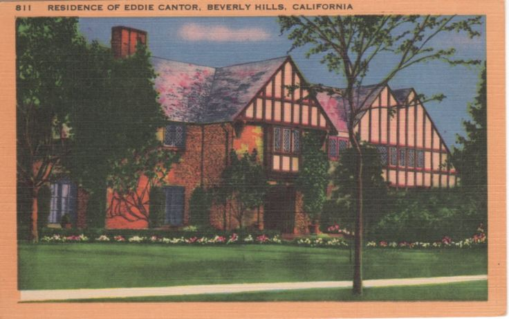 28 best vintage postcards movie star homes images on pinterest for Movie star homes beverly hills