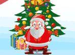 A causa del maltempo, la slitta di Babbo Natale, si è ribaltata mentre era in volo e molti regali sono caduti. Usa le frecce direzionali e recuperali. Occhio agli ostacoli!