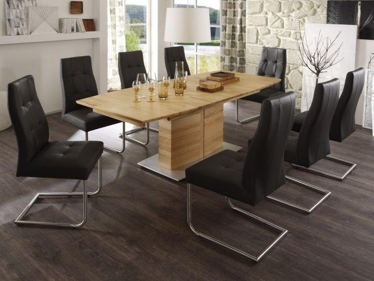 akon massivholz esstisch s ule e 150x90 cm kernbuche ge lt rechteckig esszimmer pinterest. Black Bedroom Furniture Sets. Home Design Ideas