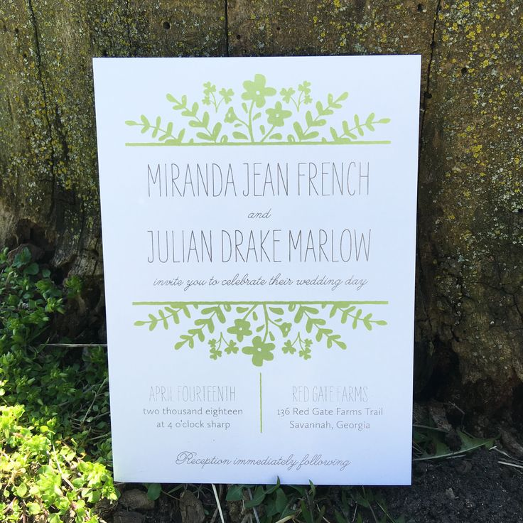 Rustic Spring Flora Wedding Invitations The American Theamericanwedding