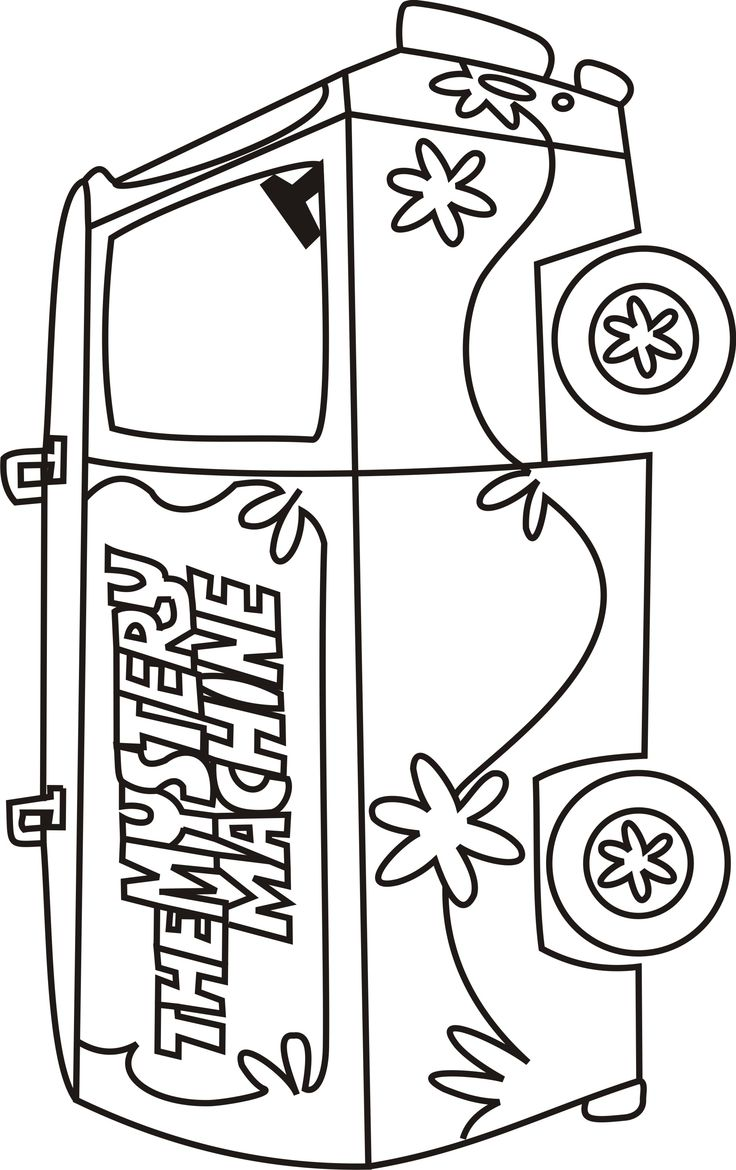 Scooby Doo Mystery Machine Coloring Pages Scooby doo
