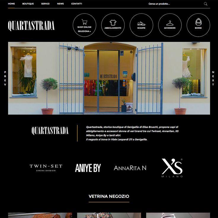 Nuovo sito web per Quartastrada, storica boutique di Senigallia che propone capi di abbigliamento e accessori donna di vari brand.  Scopri le novità sul sito web www.quartastrada.com
