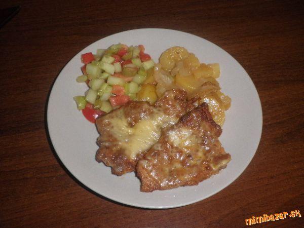 Obrátené rezne zapekané so zemiakmi