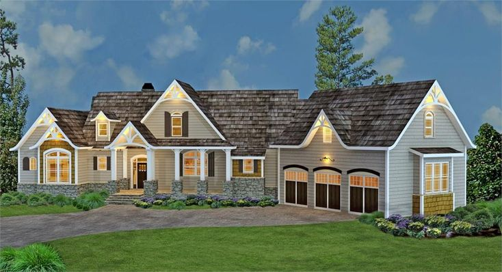 106-1274 front image with seperate in-laws annex  #twostoreyhomeplans