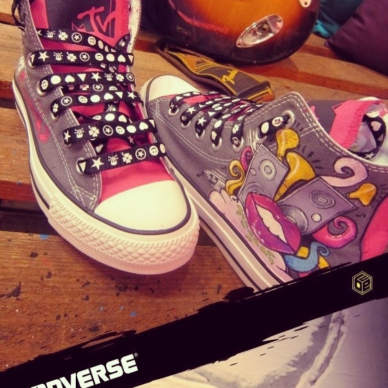 Tailor Made Converse for MTV EDgirls