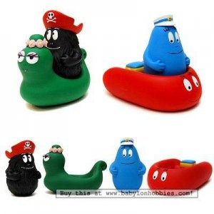 Barbabapapa bath toys by Plastoy