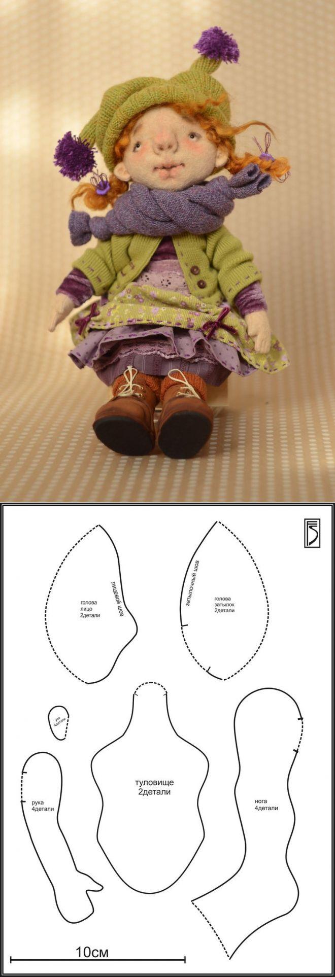 Шьем игровую куклу из фетра для больших и маленьких девочек..<3 Deniz <3