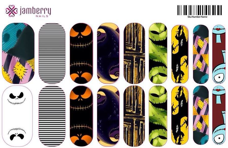 NBC (Nightmare Before Christmas) Jamberry Nails $25.00 (includes ...