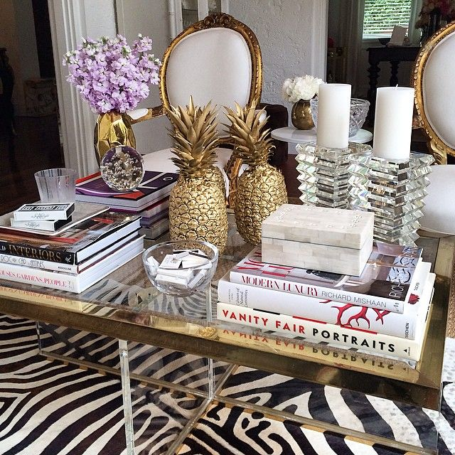 Coffee Table Decor Tray Glam