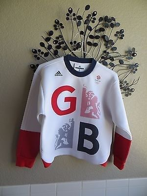 49.99$  Buy here - http://vicvz.justgood.pw/vig/item.php?t=h9dyas23232 - Stella McCartney Adidas Olympic Team GB Athletic Sweater Small Rare Great!