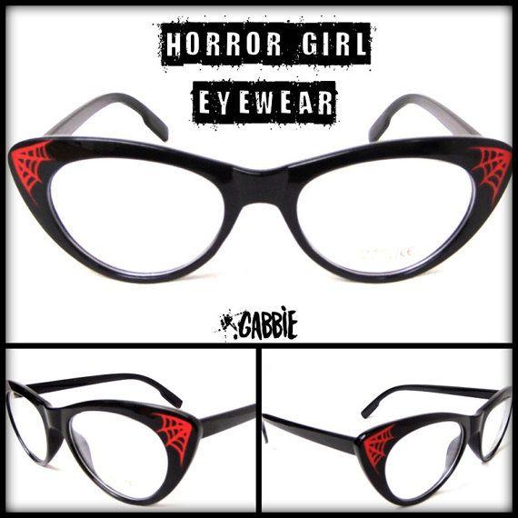 ___HORROR GIRL EYEWEAR___ Custom eyeglasses frames. Ideal for changing for prescription lenses (these have just transparent glasses).