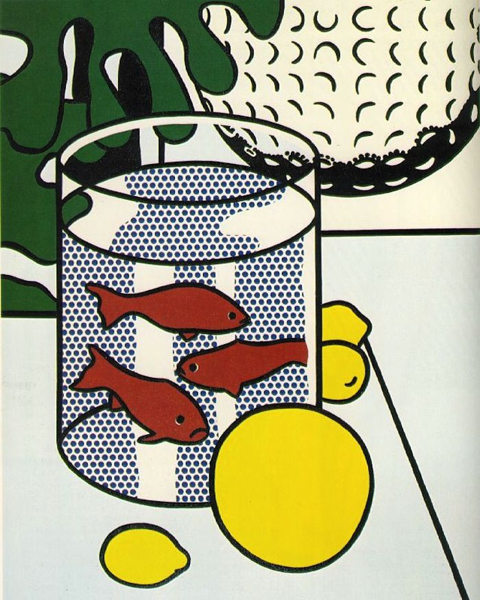 Roy Lichtenstein- Still Life With Goldfish Bowl and Painting of a Golfball