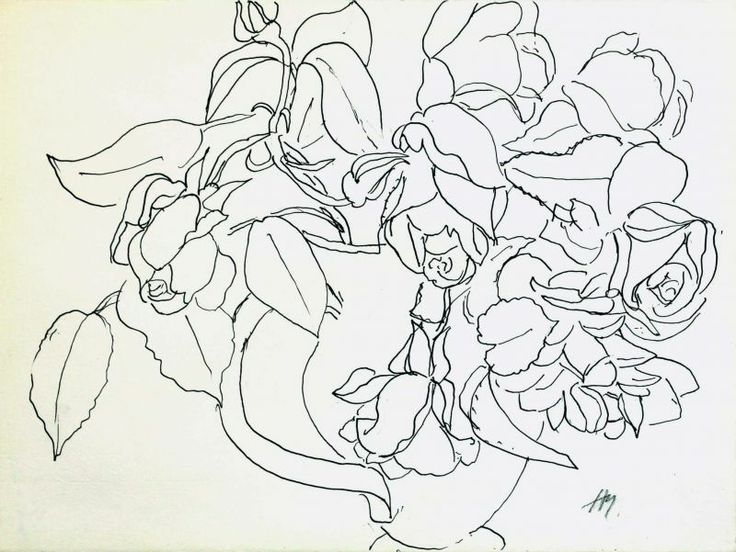 Contour Line Drawing With Color : The best flower line drawings ideas on pinterest