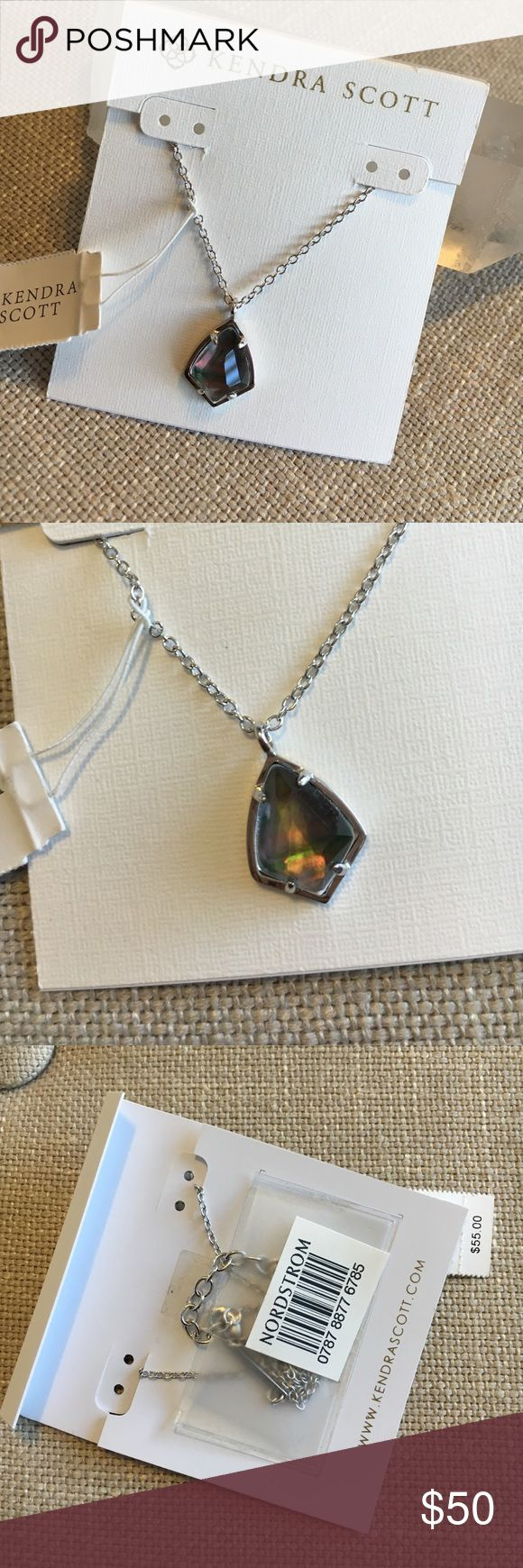 Kendra Scott Cory Black Mother of Pearl Necklace This Kendra Scott Cory Necklace Black in Mother of Pearl is new, never been worn with tags (no bag or box but will ship in a box!) I received this as a gift and have never worn so am deciding to let her go to a home that will show her the love she deserves!! Very pretty stone!! A great everyday necklace! Kendra Scott Jewelry Necklaces