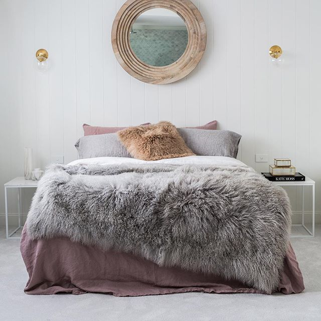 Mother's Day is less than 2 weeks away . And boy have we got the most divine gifts for her  that not only keep with the traditional 'soft and fluffy' theme she's use to, but will spoil her for years to come. Look at this stunning Mongolian sheepskin blanket. She will love one of these thrown over the bed or to cosy up with on the lounge while watching TV. Available in 4 divine colours - light grey, pink blush, natural white and black. With a soft velour backing  Hands up  or...