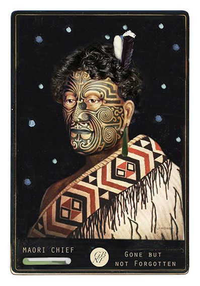 Maori Chief  - from the Gone But Not Forgotten collection by Auckland artist, Marika Jones. Available as paper artprints from www.imagevault.co.nz