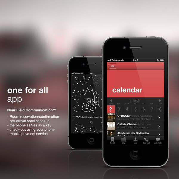 me and all hotels - iPhone App by Conny Naumann, via Behance