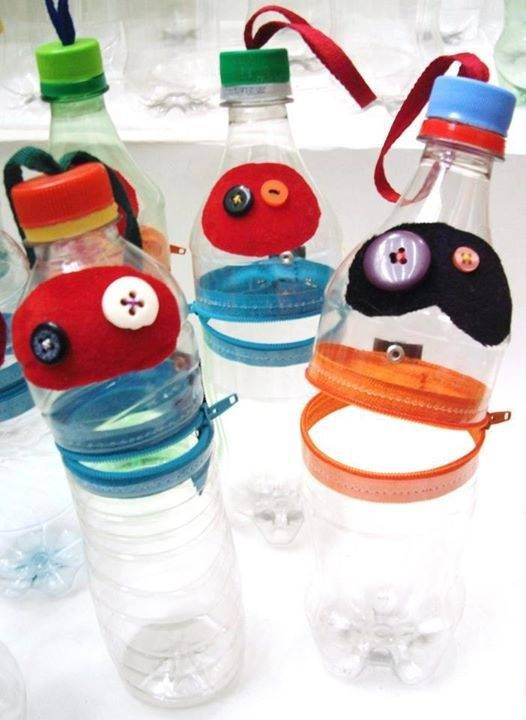 Cartucheras con botellas reciclado pinterest - Manualidades recicladas de plastico ...