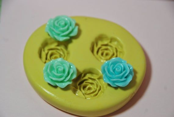 0049 Trio Of Roses Silicone Rubber Food Safe Mold Fondant Wax Wedding Cake Birthday Cake Resin Soap Candy Kawaii Cabochon With Images Safe Food Food