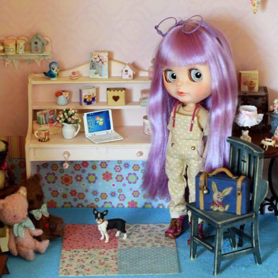 Dřevěný stůl pro BJD panenky Barbie Fashion Royalty Blythe Pullip