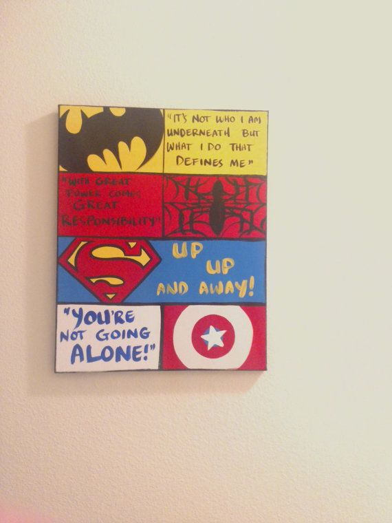 Wall art canvas sayings : Best images about superhero quotes on