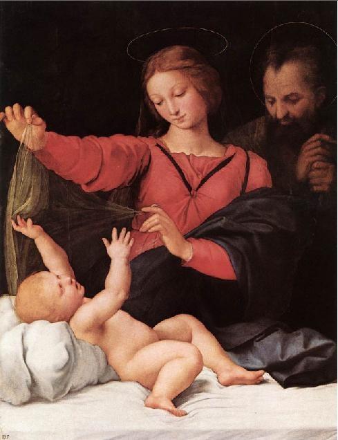 라파엘로 산치오(Raffaello Sanzio)의 로레트의 마돈나(Madone de Lorette) / 16세기경 / 콩데 미술관 소장