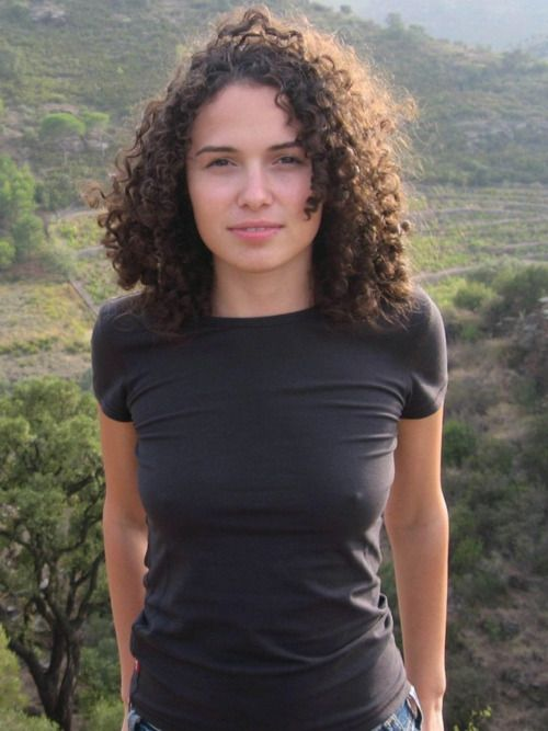Natural Curly Hair Curly Hair T Shirts For Women