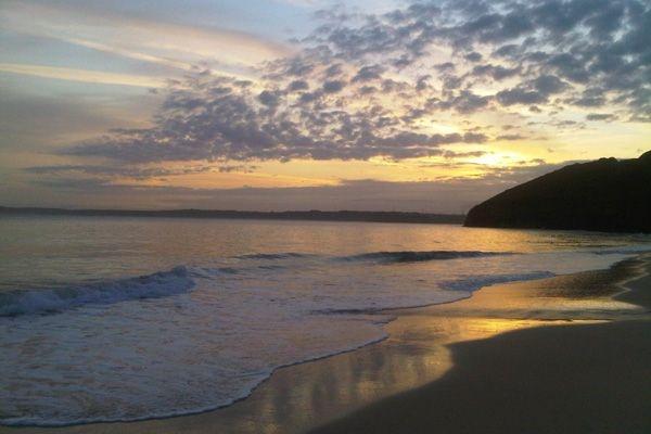 Carbis Bay, Cornwall at dusk