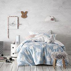Bunny Love Flannelette Quilt Cover Set - Adairs Kids