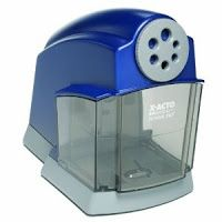 What Every Crafty Teacher Needs! These electric pencil sharpeners last long as long as crayons and plastic coated pencils do not get in there! Only regular pencils.