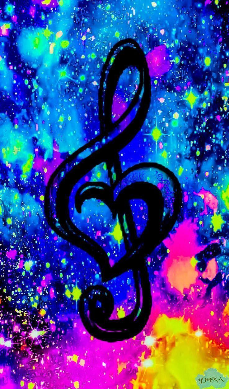 Corazon En Nota Musical Mis Creaciones Corazon Creaciones Mis Musical Nota Music Wallpaper Galaxy Wallpaper Love Wallpaper