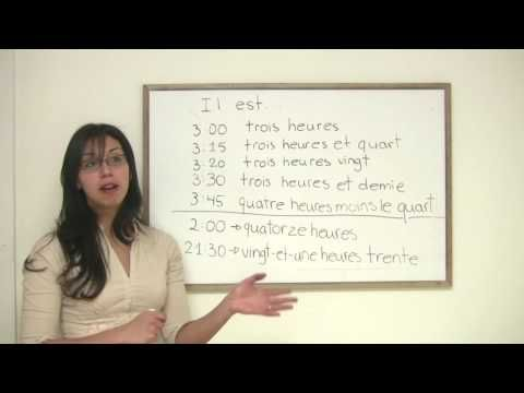 French for Beginners - How to Tell Time in French
