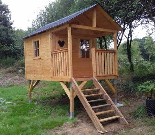 plan cabane enfant pilotis en 2019 plan cabane enfant cabane enfant et cabane jardin enfant
