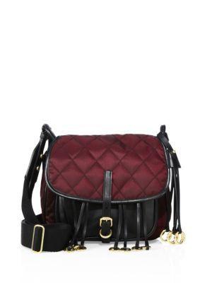 PRADA Nylon And Leather Corsaire Messenger Bag. #prada #bags #shoulder bags #leather #nylon #lining #
