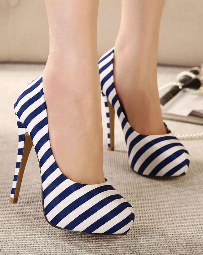 Para quienes le gustan las rayas! #Striped #shoes
