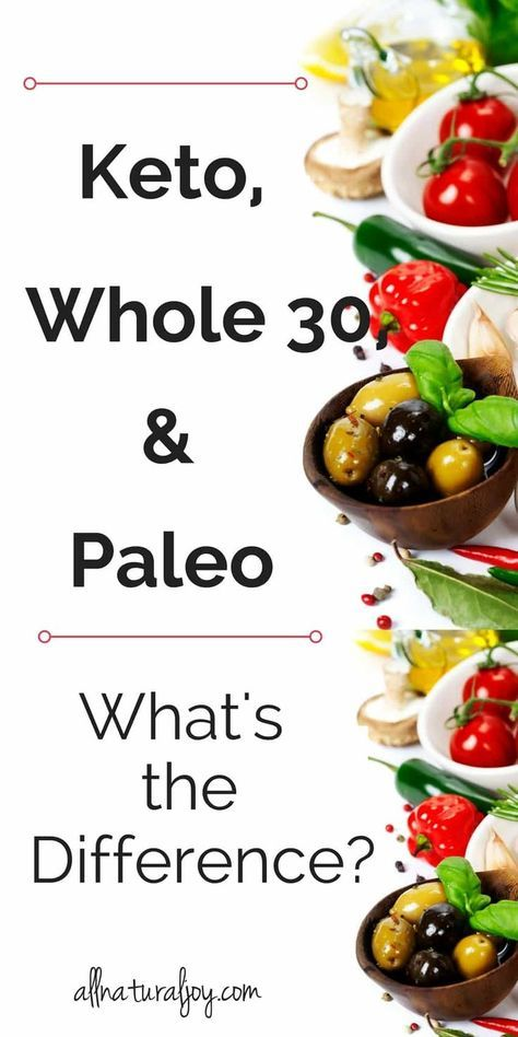 The Ketogenic (Keto) Diet, Whole 30 Diet, and Paleo Diet explained in a Nut Shell by a Mom, just like you! Learn if these diets are right for you via @Pinterest.com/allnaturaljoy_ #paleo #paleodiet #keto #ketogenicdiet #ketogenic #ketodiet #ketosis #whole30 via @Pinterest.com/allnaturaljoy_