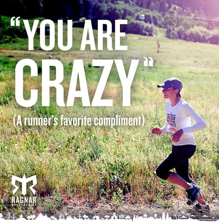A runner's favorite compliment...
