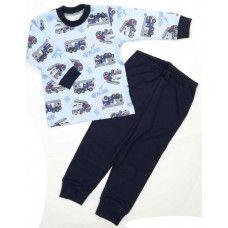 Dětské bavlněné pyžamo s hasiči. #fashion #děti #hasiči