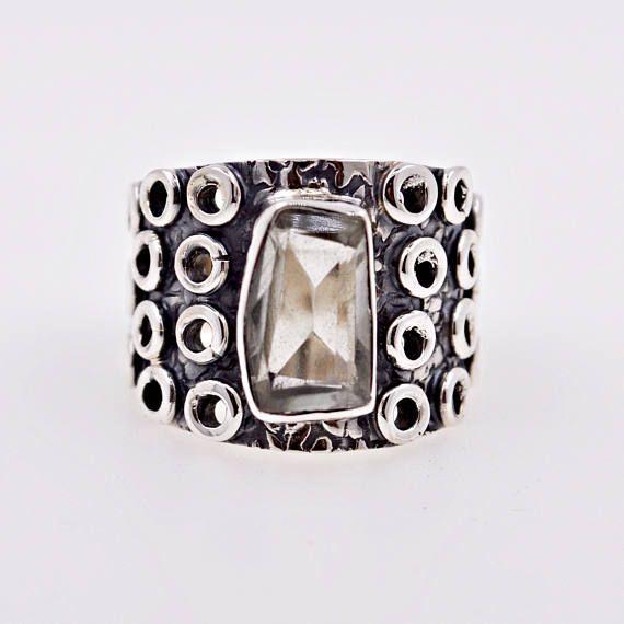 Handmade Sterling Silver Lemon Quartz Artisan Ring 6.5 Jewelry