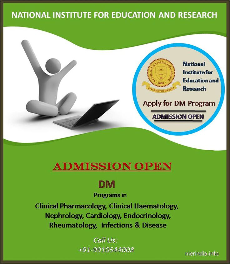 Attention Medical Practitioners!!! Direct ‪#‎Admissions‬ open for ‪#‎DM‬ (Doctorate of Medicine) in Clinical Pharmacology,ClinicalHaematology,Nephrology, Cardiology,Endocrinology,Rheumatology, Infections & Disease Programs through Distance Learning. ‪#‎Students‬ are welcome to apply for admissions on first come first serve basis. Contact +91-9350044008 Visit us: http://www.nierindia.info/