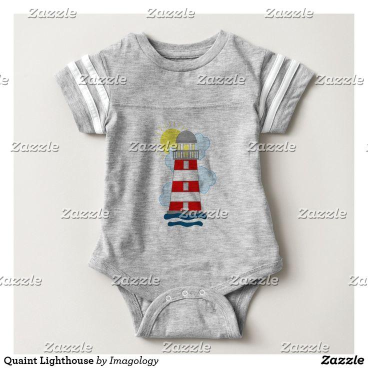 Quaint Lighthouse Baby Bodysuit