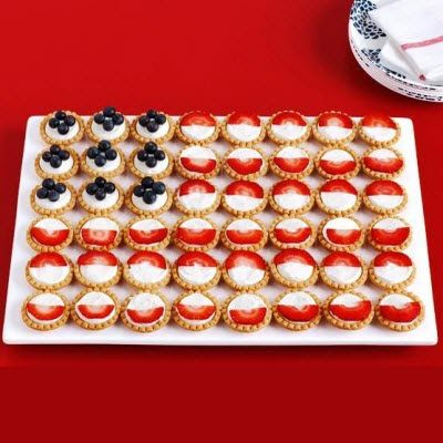 15 Totally Tasty July 4th Treats: Flag fruit and marscarpone tarts, by Food Network