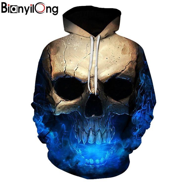 3D Printed Skull Head Men Quality Hoodies //Price: $32.45 & FREE Shipping //     #3dwear