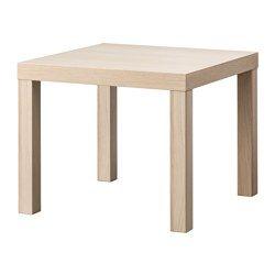 IKEA - ЛАКК, Придиванный столик, под беленый дуб, , Легко собирается.Легкий; легко передвигать.
