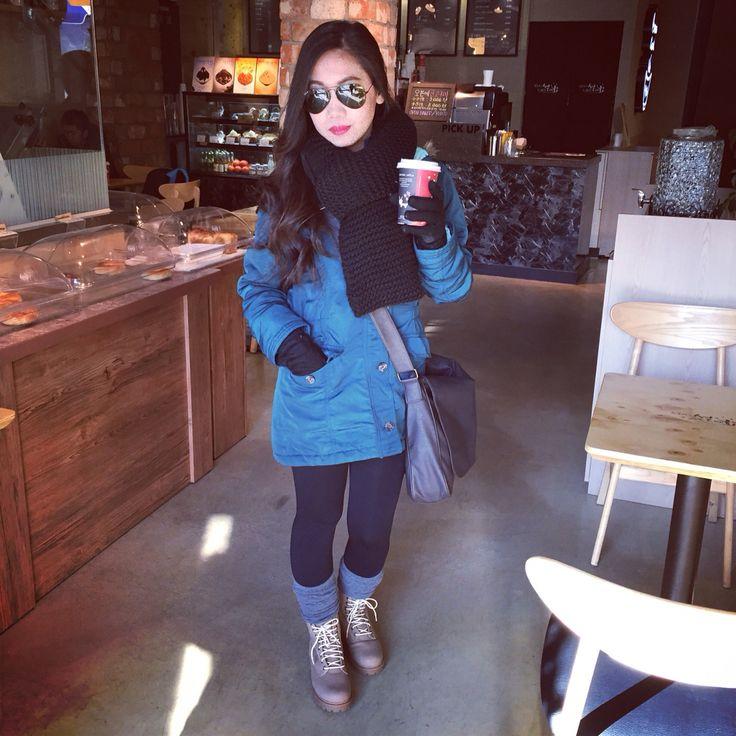 Morning breakfast in Seoul #winter #fashion #korea #seoul