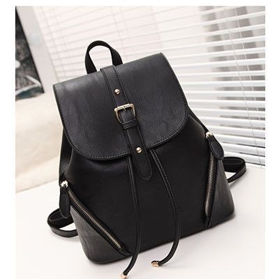 Casual leather women's backpack schoolbag female backpacks women preppy style