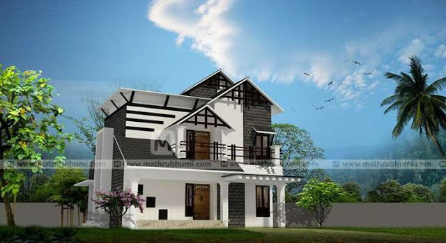 Latest Model Low Cost 2 Bedroom Home Design And Free Plan, South Indian  2BHK Home