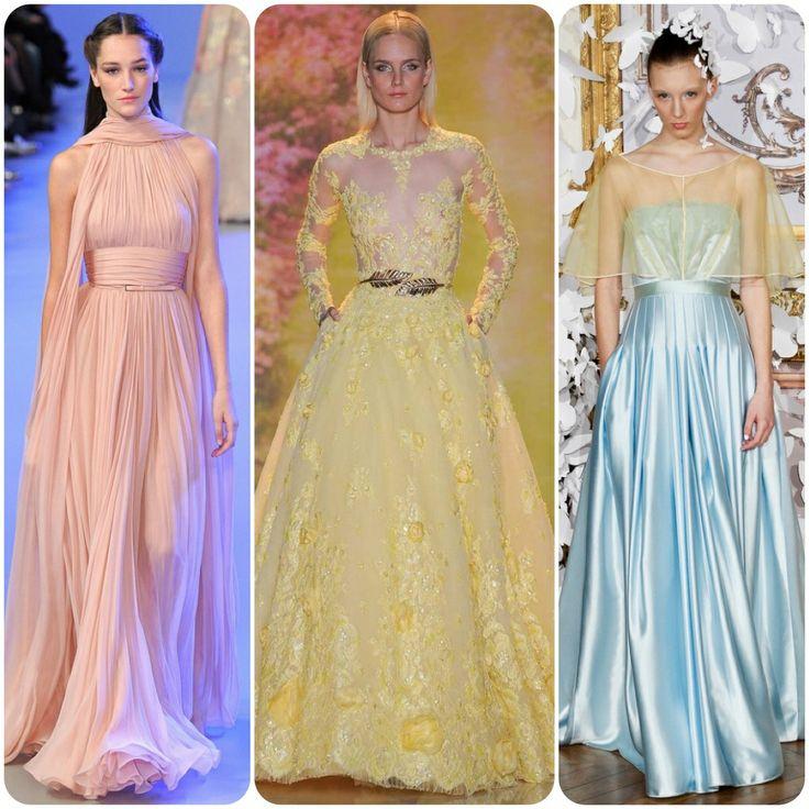 Elegant pastels at Paris Fashion Week- Elie Saab, Zuhair Murad & Alexis Mabille.